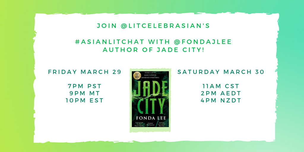 Have you started reading Jade City_ What other books by Asian authors are you reading_(2)